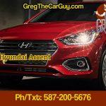 2018 Hyundai Accent Edmonton Alberta GregTheCarGuy.com Edmonton Hyundai Dealer