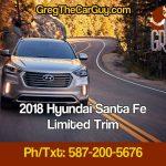 2018 Santa Fe Edmonton Alberta Limited Trim Alberta Hyundai Dealer