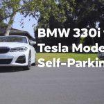 Tesla Model 3 Versus BMW 3 Series In Autopark Contest: Video
