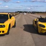 Dodge Demon and Ford GT line up for half-mile drag race
